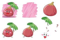 卡通茄子设计矢量素材