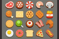 25款美味食品图标矢量素材
