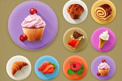 13款逼真甜品图标矢量素材