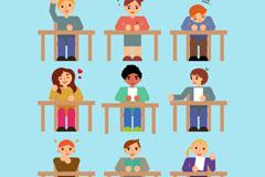 9款课堂学生设计矢量素材