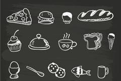 18款手绘食品矢量素材