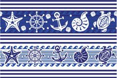 蓝色海洋元素矢量素材