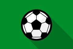 扁平化足球设计矢量素材