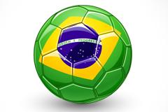 创意巴西足球矢量素材