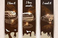 巧克力蛋糕banner矢量素材