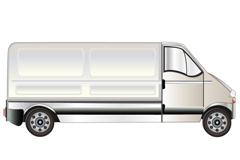 卡通箱式货运车矢量素材