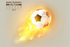 精致火焰足球矢量素材