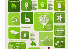 精致生态环保信息图矢量素材