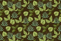 复古绿叶背景矢量素材