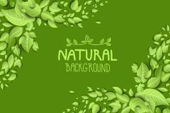 自然绿叶背景矢量素材