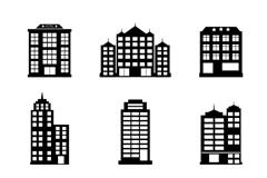 9款时尚酒店大厦设计矢量素材