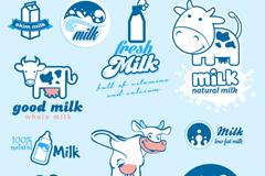 10款牛奶标签标志矢量素材