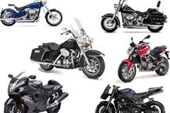 6款豪华摩托车设计矢量素材
