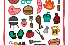 21款童趣烧烤元素图标矢量素材