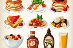 10款卡通食物设计矢量素材