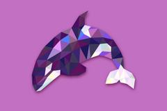 抽象鲸鱼设计矢量素材