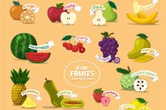 16款美味水果图标矢量素材