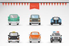 9款卡通车辆设计矢量素材