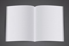 白色对开本子设计矢量素材