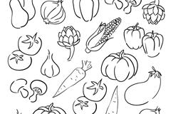 21款手绘蔬菜设计矢量素材