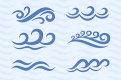 8款海浪波纹设计矢量素材