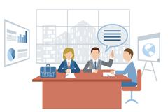 商务会议背景矢量素材