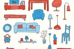 20款彩色家具设计矢量素材