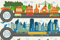 城市基础建设banner设计矢量素材