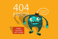404网页错误提示背景矢量素材