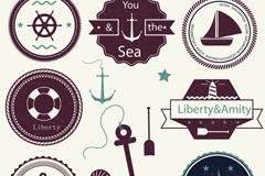 7款航海元素标签矢量素材