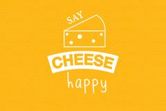 手绘奶酪背景设计矢量素材