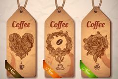3款纸质咖啡吊牌矢量素材