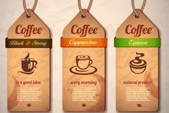 3款咖啡纸吊牌设计矢量素材