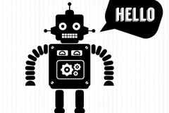 黑色机器人设计矢量素材