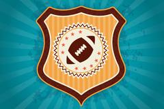 创意橄榄球盾形标志背景矢量素材