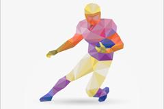 美式橄榄球员设计矢量素材