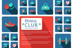 健身俱乐部图标设计矢量素材