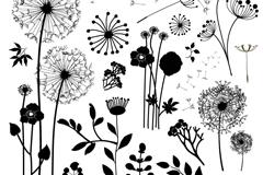 11款植物剪影矢量素材