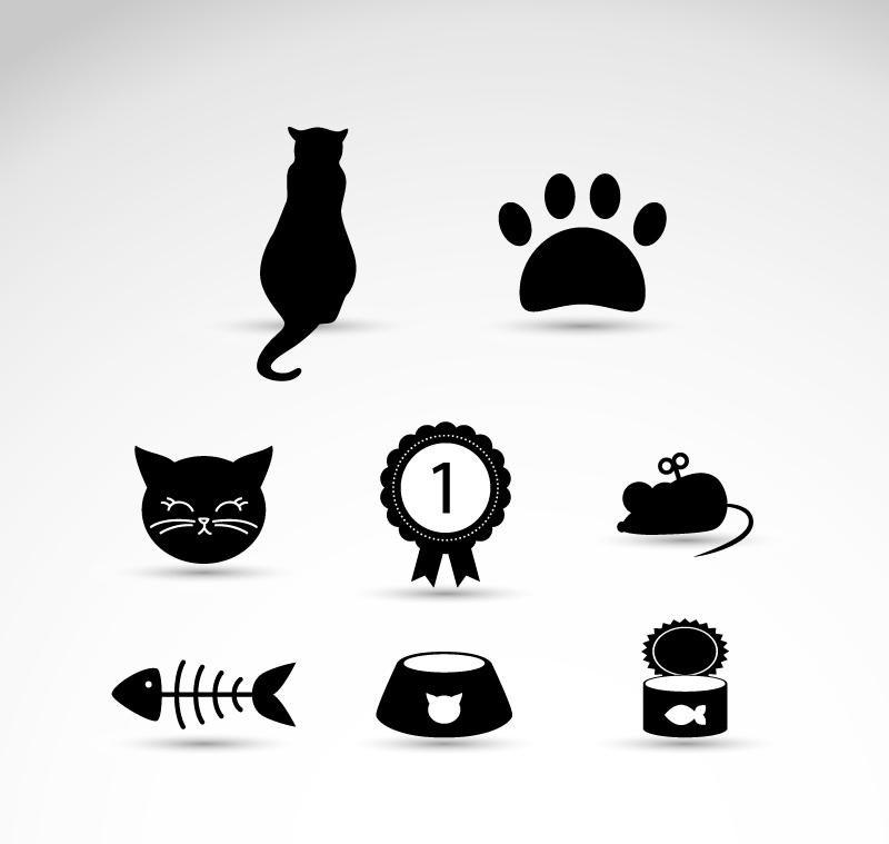 黄色网址 导航_8款黑色猫元素图标矢量素材_矢量图标_懒人图库