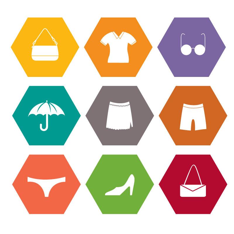 9款服装与配饰图标矢量素材