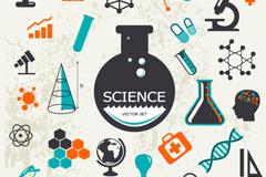 复古科学元素设计矢量素材
