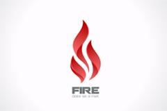精美火焰标志设计矢量素材