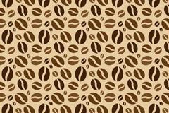 创意咖啡豆无缝背景矢量素材