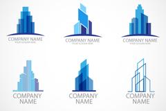 6款时尚建筑标志设计矢量素材