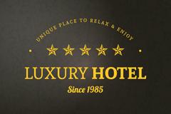 五星级高级酒店标志背景矢量素材