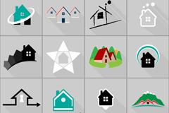16款房地产标志设计矢量素材