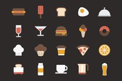 30款复古食品图标矢量素材