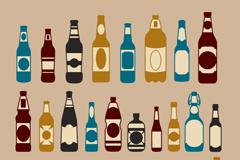 30款复古玻璃瓶设计矢量素材
