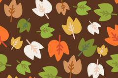 卡通彩色树叶背景矢量素材