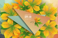 黄色秋叶背景矢量素材